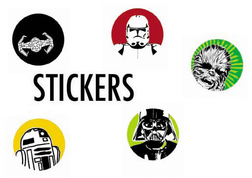 Want to show off your love for Star Wars on your skatedeck, locker,  journal, scrapbook, iPod, or even on the street? It's easy with these cool  stickers ...
